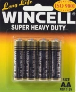 Wincell Super Heavy Duty AA Carded 4Pk Battery
