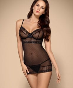 See Me Mesh Chemise And Thong