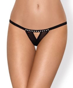 Thong Crotchless 812 Blk